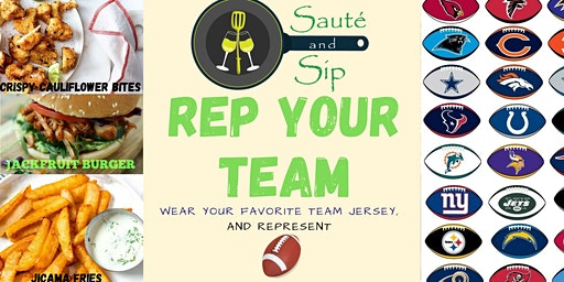 Sauté and Sip - Rep Your Team