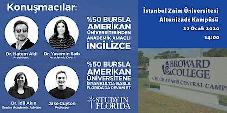 Broward College-Üniversitene  İstanbulda başla Florida'da Devam Et-22 Ocak tickets
