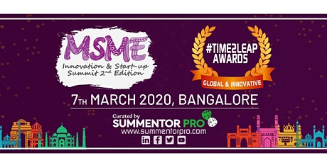 MSME INNOVATION & STARTUP SUMMIT tickets
