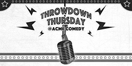 Throwdown Thursday: 9pm Show tickets