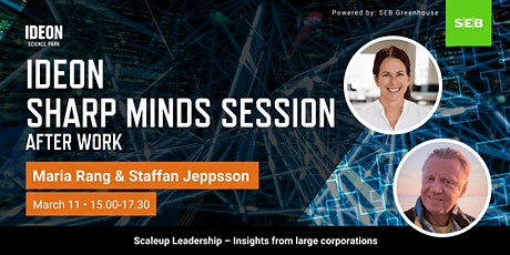 Ideon Sharp Minds Session - Scaleup Leadership – Insights from large corp. tickets