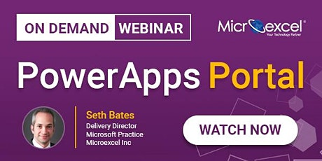 Webinar - PowerApps Portals: Powerful low-code websites for external users tickets