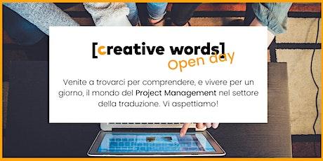 Creative Words Open Day: una giornata da Project Manager biglietti