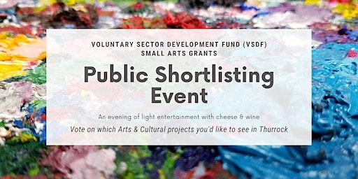VSDF Small Arts Grant – Public Shortlisting Event
