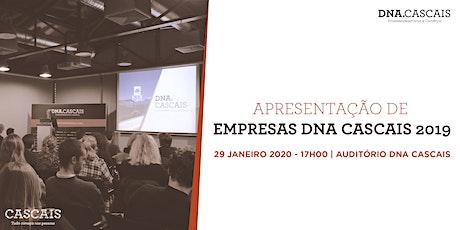 Apresentação novas empresas DNA Cascais 2019 tickets