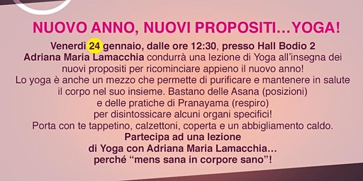 NUOVO ANNO, NUOVI PROPOSITI...YOGA! @BODIO BREAK