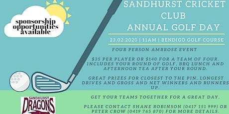 Sandhurst Cricket Club Golf Day tickets