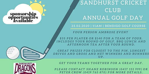 Sandhurst Cricket Club Golf Day