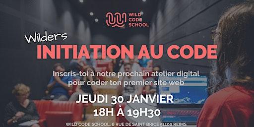 Wild Workshop - Ateliers d'initiation au code - Wild Code School Reims