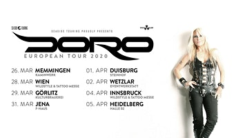 Doro - European Tour 2020