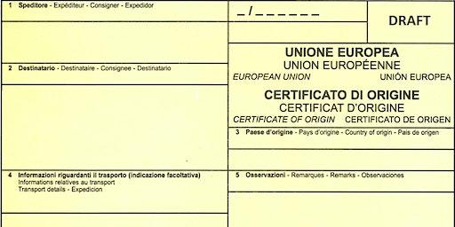 Documentazione per l'estero - Certificati di origine: corretta compilazio..
