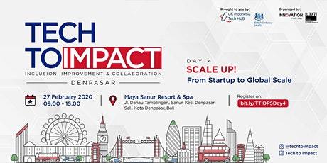TECHTOIMPACT - From Startup to Global Scale tickets
