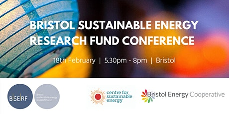 Bristol sustainable energy research fund conference tickets