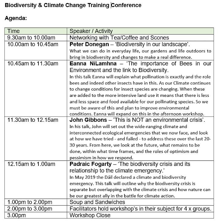 Free Biodiversity & Climate Change Training Conference image