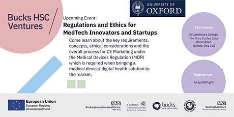 Regulations and Ethics for MedTech Innovators and Startups tickets