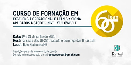 Lean Six Sigma HealthCare - YellowBelt (Belo Horizonte) ingressos
