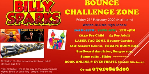 Billy Sparks Bounce Challenge Zone