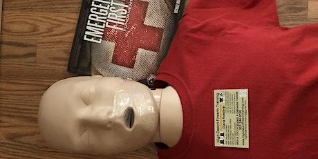 CPR, AED, First Aid and Gunshot & Stabbing Wound Trauma Class tickets