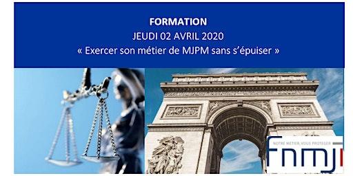 """Formation FNMJI """"Exercer son métier de MJPM sans s'épuiser"""""""