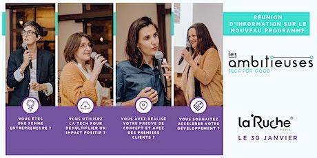 Réunion d'info : Les Ambitieuses Tech for Good, demandez le programme ! billets