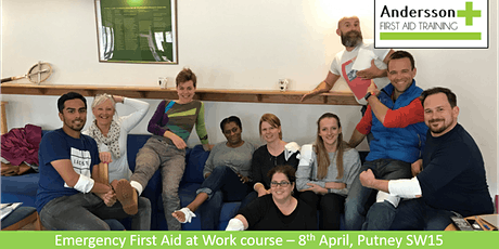 POSTPONED Emergency First Aid at Work - 8th April Putney tickets