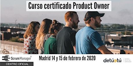 Curso certificado Product Owner entradas