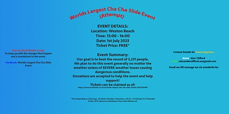 Worlds Largest Cha Cha Slide!! tickets