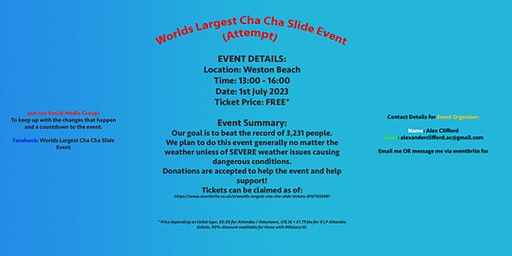 Worlds Largest Cha Cha Slide!!