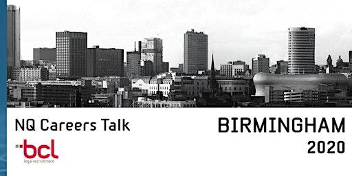BIRMINGHAM 2020: BCL Legal NQ Careers Talk