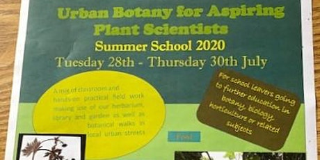 Summer School - Urban Botany for Aspiring Plant Scientists tickets