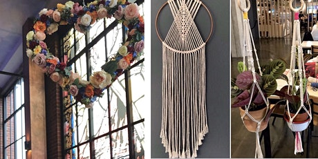 Macrame Plant Hanger or Macrame Dreamcatcher Works tickets