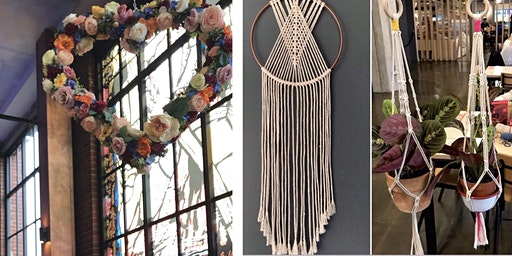 Macrame Plant Hanger or Macrame Dreamcatcher Workshop