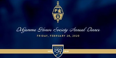 Canisius College DiGamma Honor Society Annual Induction Dinner