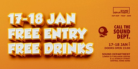 FREE ENTRY GUESTLIST (2 DRINKS) @ Sound Department tickets