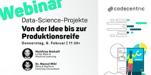 Kostenloses Webinar: Data-Science-Projekte