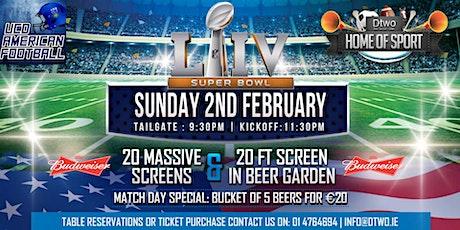 Superbowl Sunday tickets