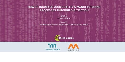 How to increase your quality & manufacturing processes through digitisation