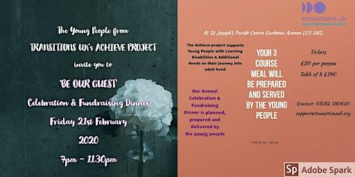 """""""Be our Guest"""" at the Achieve Project Celebration Dinner"""