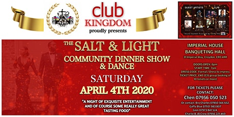 The Salt & Light Community Dinner Show and Dance tickets