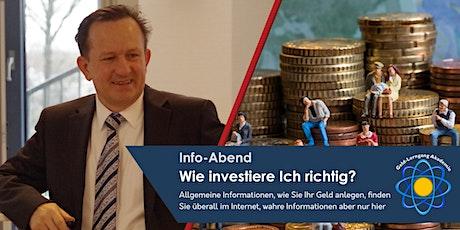 Info-Abend: Wie investiere Ich richtig? Tickets