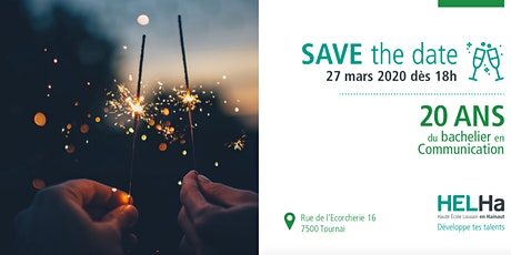 Save the date - 20 ans Section Communication billets