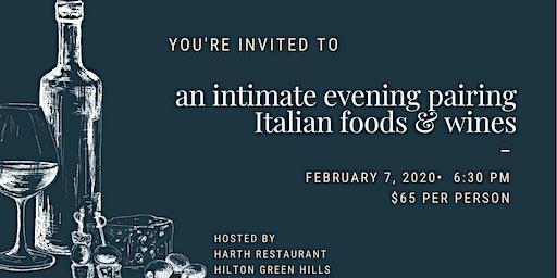 An Intimate Evening Pairing Italian Food & Wine