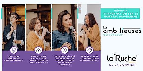 Réunion d'info : Les Ambitieuses Tech for Good, à La Ruche Bordeaux! tickets