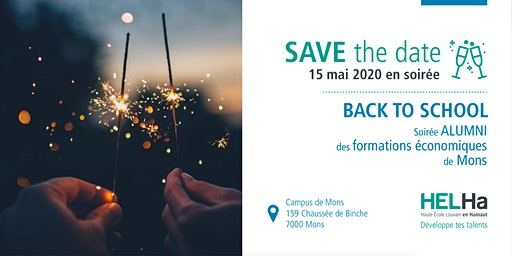 Save The Date - Soirée alumni Économique Mons