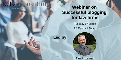 Successful blogging for law firms - March 2020 tickets