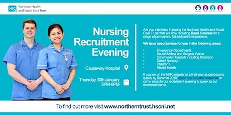 Nursing Recruitment Evening at Causeway Hospital tickets