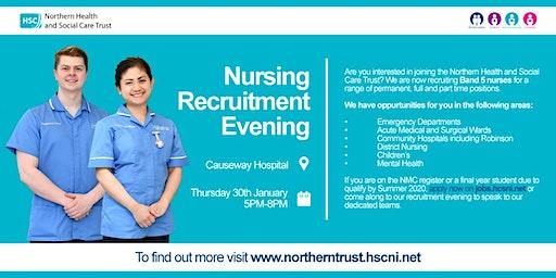 Nursing Recruitment Evening at Causeway Hospital