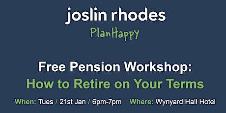 Pension Advice - Free Workshop at Wynyard Hall, Stockton tickets