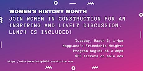Women's History Month Women in Construction Stewardship Event tickets