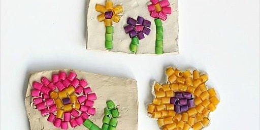Pasta Mosaics - Pre-School art class with Erin Simons